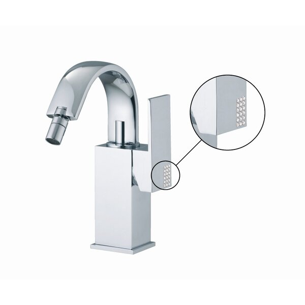 Brick Single Handle Horizontal Spray Bidet Faucet with Swivel Spout by Fima by Nameeks
