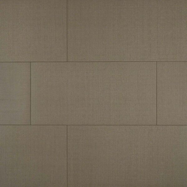 Loft Olive 12 x 24 Porcelain Fabric Look/Field Tile in Gray by MSI