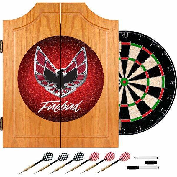 Pontiac Firebird Wood Dart Cabinet Set by Trademark Global