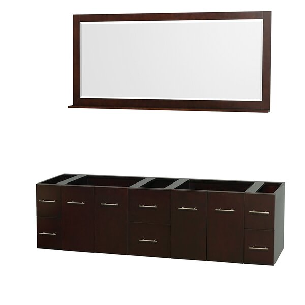 Centra 79 Double Bathroom Vanity Base by Wyndham Collection