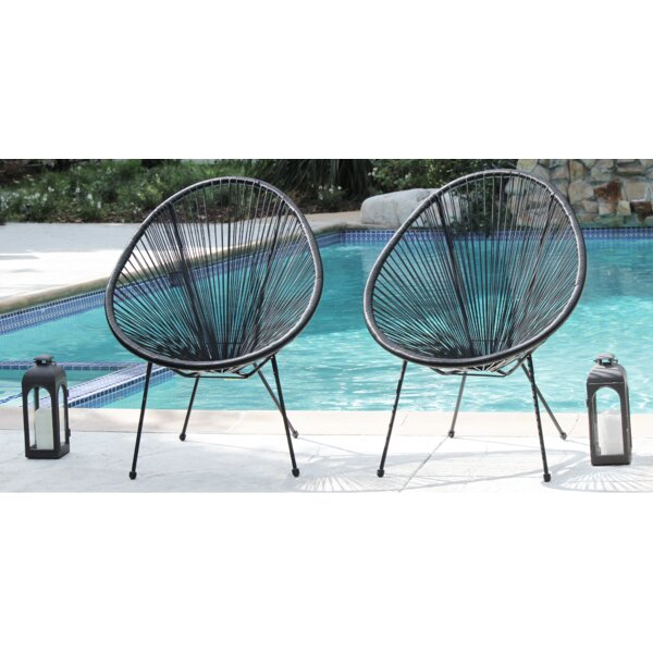 Gena Papasan Patio Chair (Set of 2) by Ivy Bronx