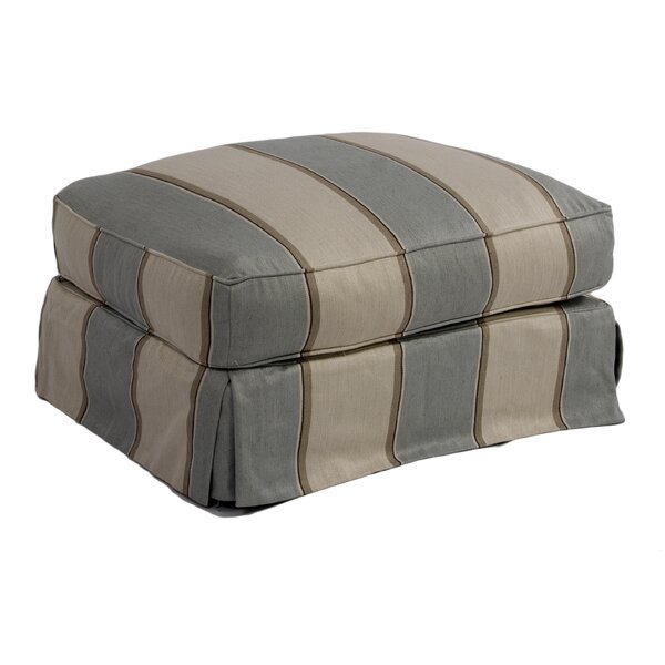 Glenhill Upholstered Ottoman Slipcover by Rosecliff Heights
