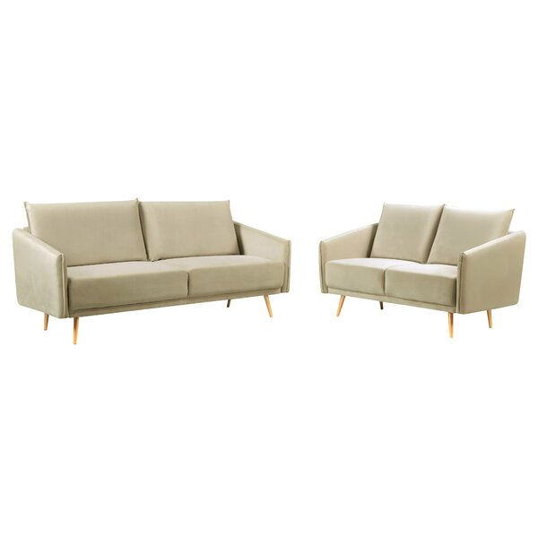 Paton Luxurious 2 Piece Living Room Set by Everly Quinn Everly Quinn