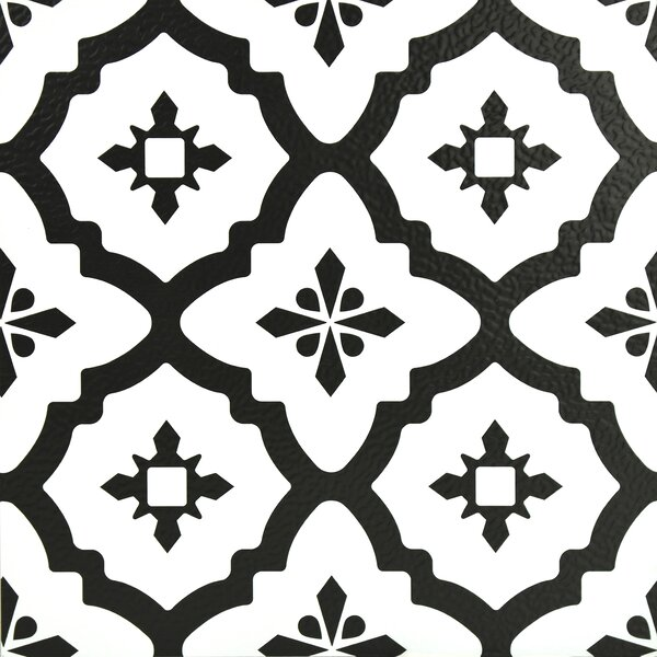 Comet 12 x 12 Vinyl Tile in Black by WallPops!