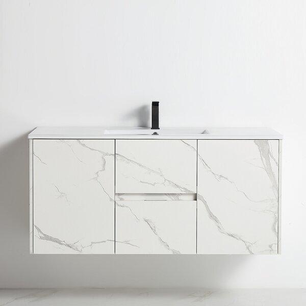 Hippocrates 48 Wall-Mounted Single Bathroom Vanity Set