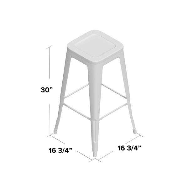 Salerno 30 Indoor Bar Stool (Set of 4) by Laurel Foundry Modern Farmhouse