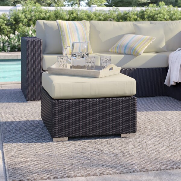 Brentwood Outdoor Ottoman with Cushion by Sol 72 Outdoor