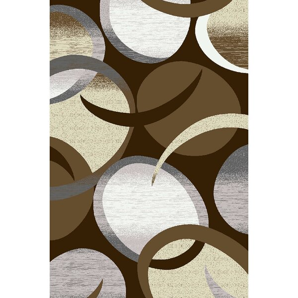 Mccampbell 3D Hand Carved Brown Area Rug by Ivy Bronx