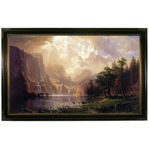 'Among the Sierra Nevada, California 1868' by Albert Bierstadt Framed Painting Print by Historic Art Gallery
