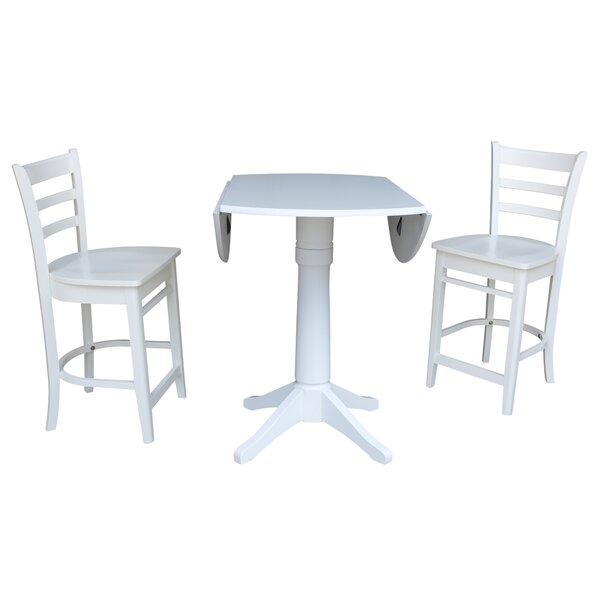 Angelia 3 Piece Pub Table Set by Canora Grey
