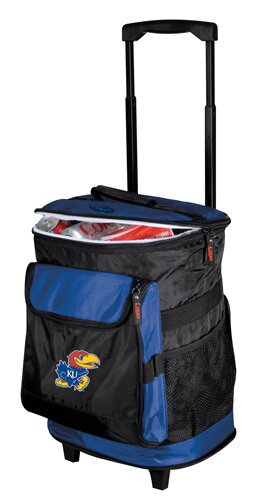 Collegiate Rolling Cooler - Kansas by Logo Brands