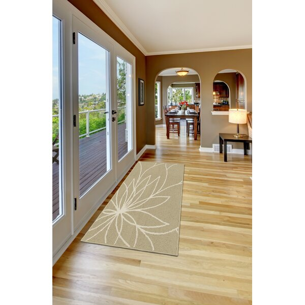 Grand Floral Tan/Ivory Area Rug by Garland Rug