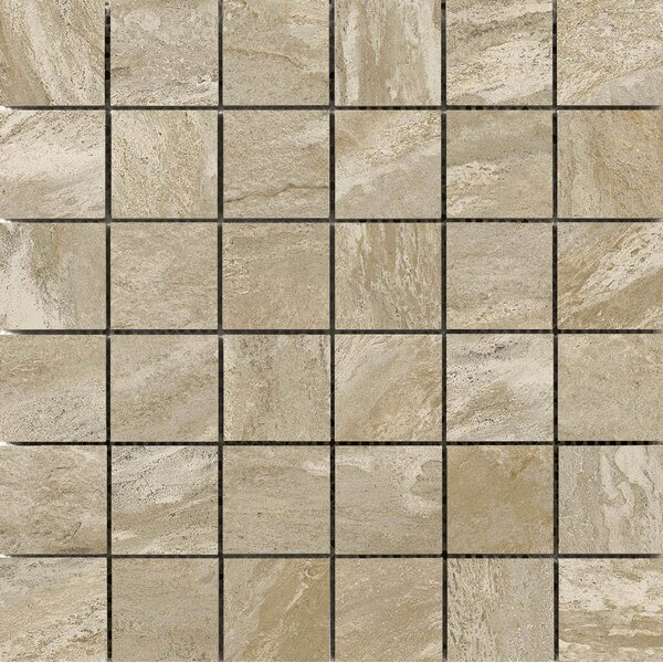 Milestone 2 x 2 Porcelain Mosaic Tile in Taupe by Emser Tile