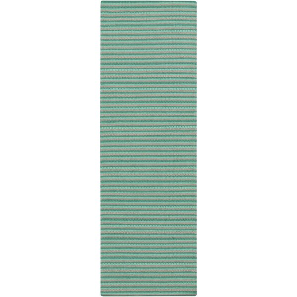 Walton Hand-Woven Aqua Area Rug by Union Rustic