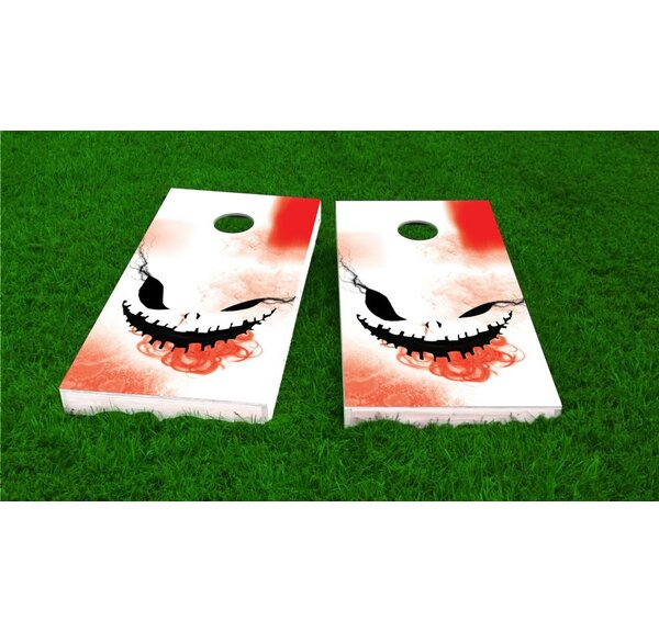 Creepy Face Halloween Theme Light Weight Cornhole Game Set by Custom Cornhole Boards