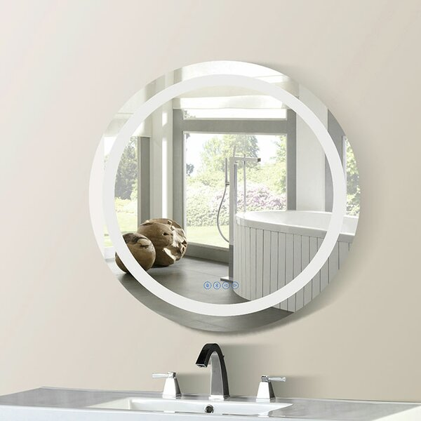 Cason Bordered Illuminated Bathroom/Vanity Mirror by Orren Ellis