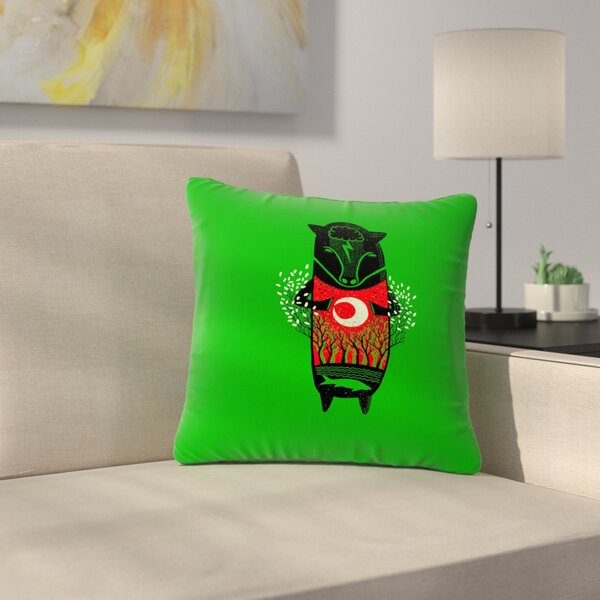 BarmalisiRTB There is Life Animals Outdoor Throw Pillow by East Urban Home