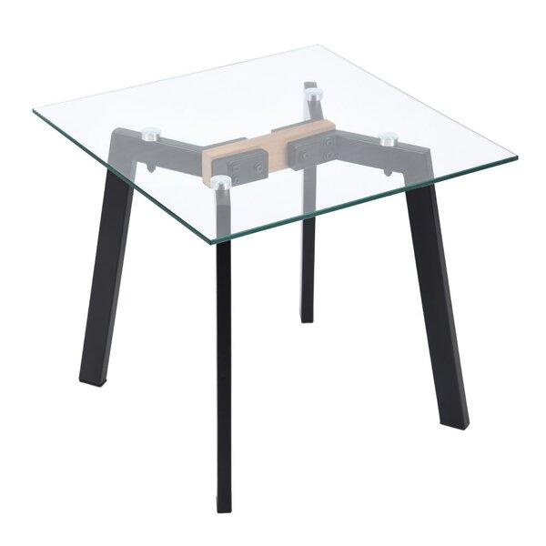 Swindle Glass Top End Table By Corrigan Studio