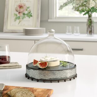 belves cake stand with glass dome - Glass Cake Dome