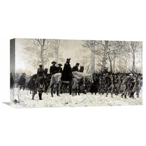 'Washington Reviewing His Troops at Valley Forge, 1883' by William T. Trego Painting Print on Wrapped Canvas by Global Gallery