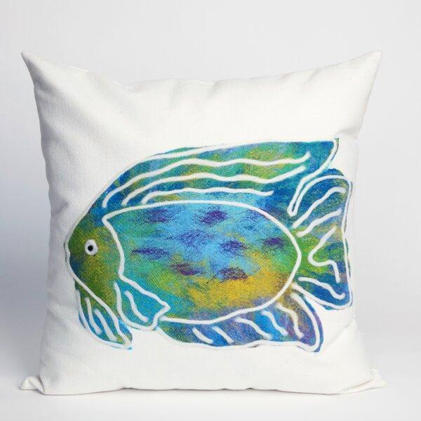 Rupert Batik Fish Indoor/Outdoor Throw Pillow by Bayou Breeze