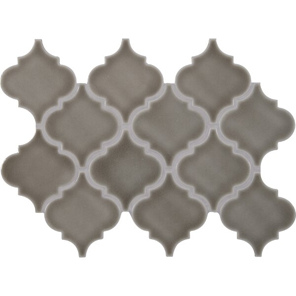 Highland Park Arabesque 10.83 x 15.5 Ceramic Mosaic Tile in Gray by MSI