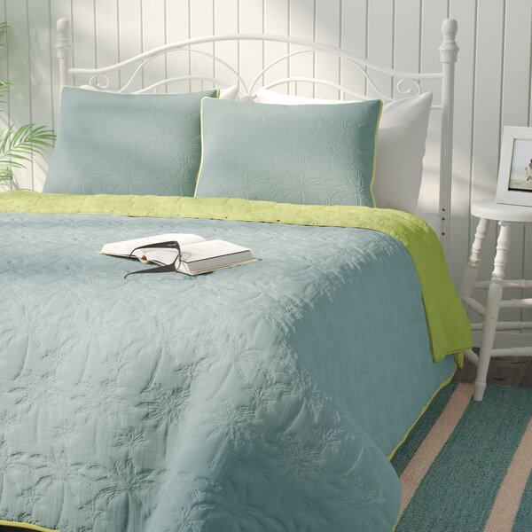 Yarra East Beach Reversible Quilt Set by Beachcrest Home