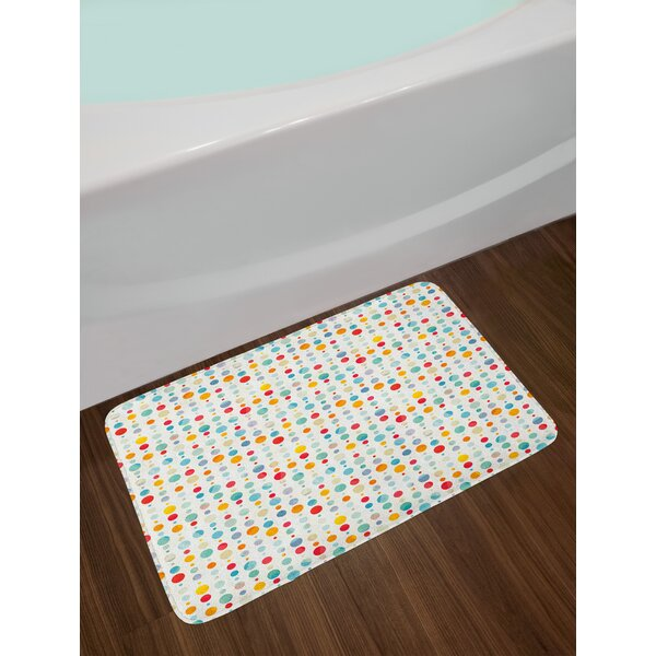 Colorful Circular Abstract Bath Rug by East Urban Home