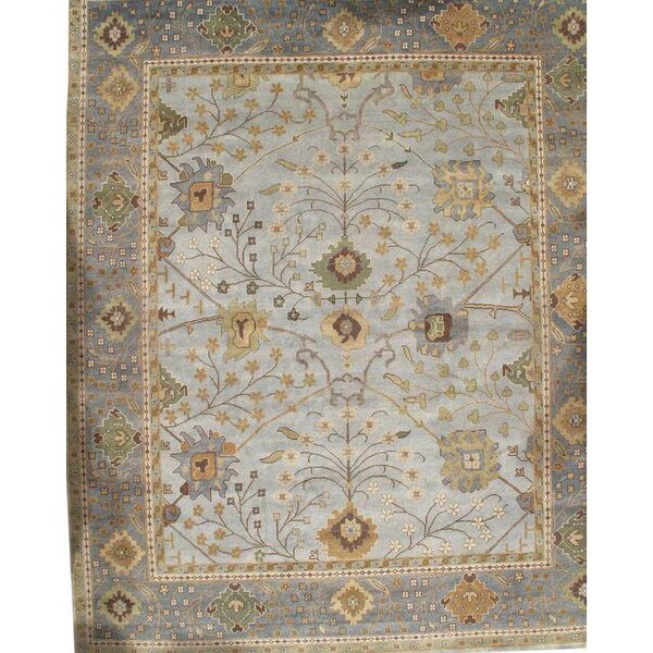 Turkish Hand Knotted Wool Brown Area Rug by Pasargad NY