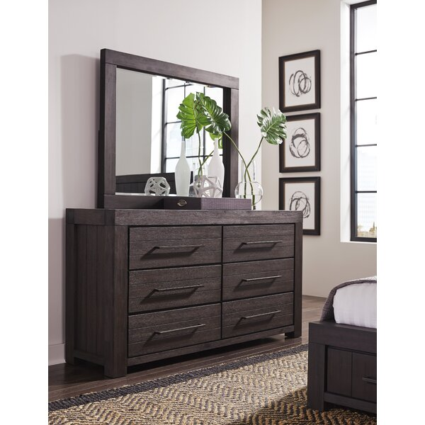 Robbs 6 Drawer Double Dresser with Mirror by Union Rustic