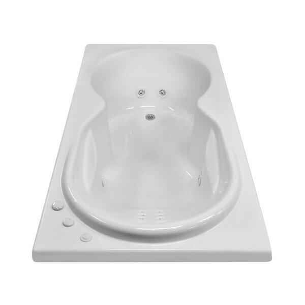 Hygienic Aqua Massage 72 x 42 Whirlpool Bathtub by Carver Tubs