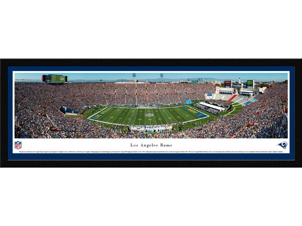 NFL L.A. Rams 1st Game in L.A. Framed Photographic Print by Blakeway Worldwide Panoramas, Inc
