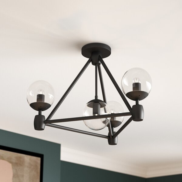 Lyle 4-Light Semi Flush Mount by Corrigan Studio
