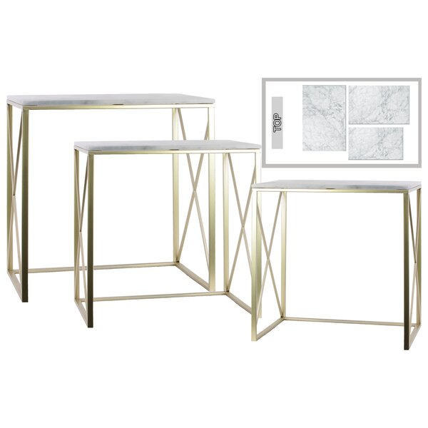 Pocklingt Metal 3 Piece Console Table Set By Everly Quinn