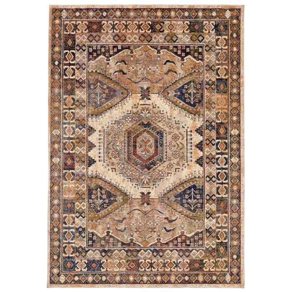 Rosana Beige/Brown Area Rug by Bloomsbury Market