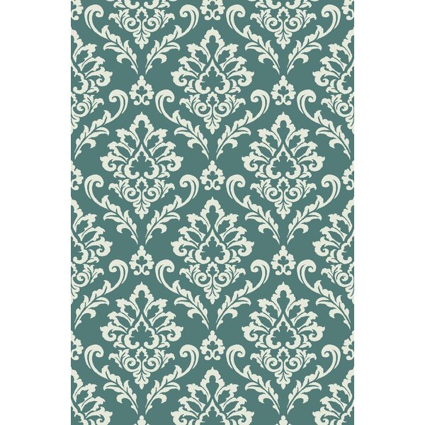 Arbor Lake Blue/Cream Area Rug by Red Barrel Studio