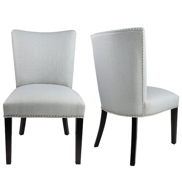Sydny Concave Back Upholstered Parsons Chair (Set of 2) by Sole Designs