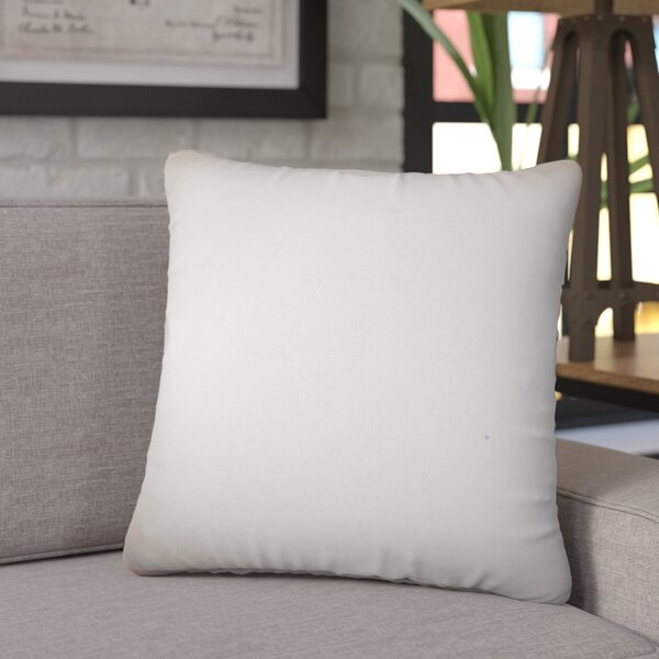 Chevy Solid Cotton Throw Pillow (Set of 2) by Symple Stuff