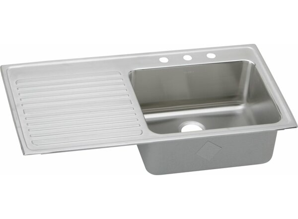 Gourmet 43 L x 22 W Drop-In Kitchen Sink by Elkay