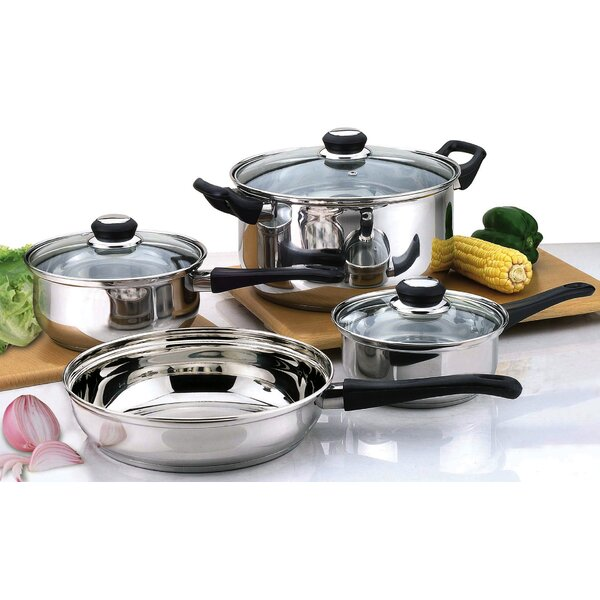 7 Piece Stainless Steel Cookware Set by Culinary Edge