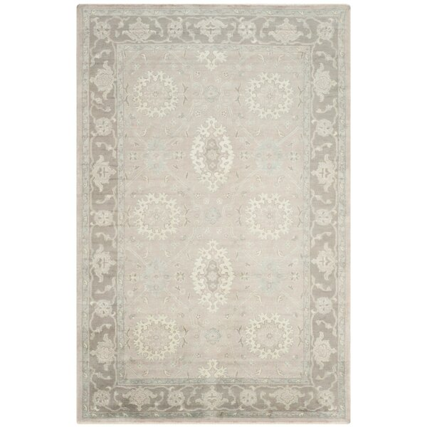 Lakemoore Hand-Knotted Gray/Mauve Area Rug by Darby Home Co