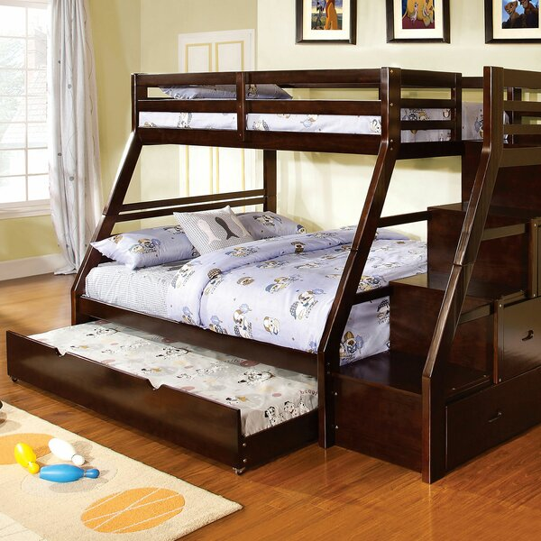 Farnsworth Twin Over Twin Bunk Bed with Trundle and Drawers by Harriet Bee