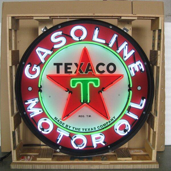 Texaco Motor Oil Neon Sign by Neonetics