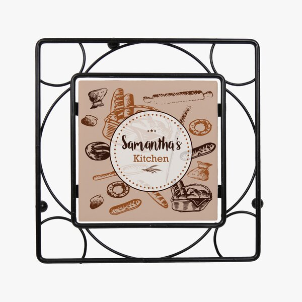 Custom Bread Basket Iron Trivet by Monogramonline Inc.