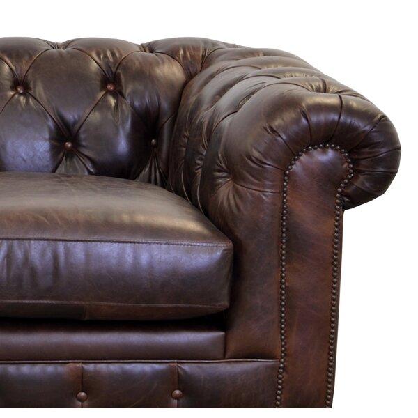 Newbury Leather Chesterfield Sofa by Westland and Birch