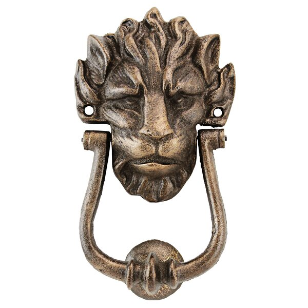 10 Downing Street Lion Authentic Foundry Door Knocker by Design Toscano