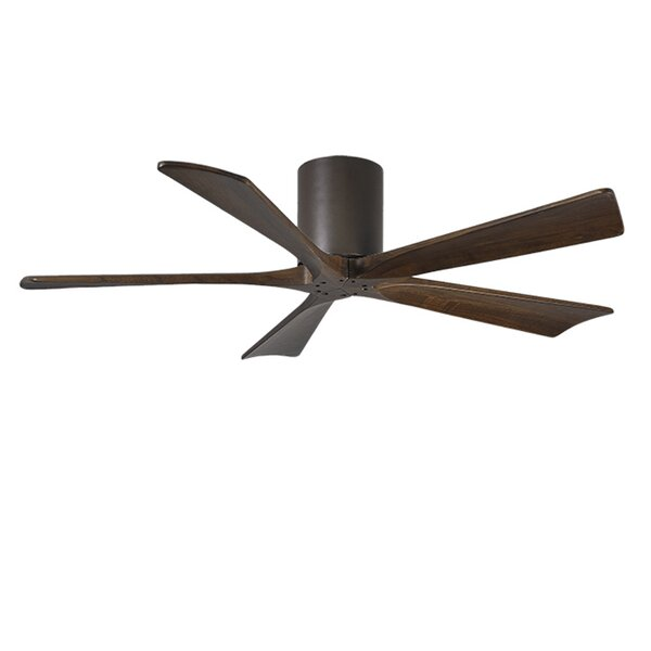 52 Rosalind 5 Blade Hugger Ceiling Fan with Hand Held and Wall Remote by Wade Logan