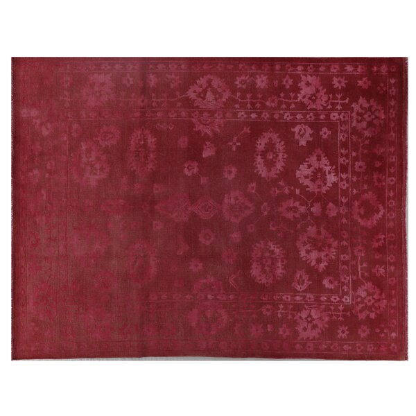 Overdyed Oushak Hand Knotted Wool Rust Area Rug by Exquisite Rugs