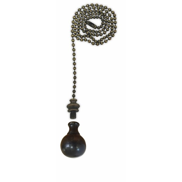 Fan Pull Chain with Medium Ball Finial by Royal Designs
