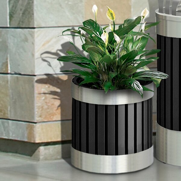 ArchTec Stainless Steel Pot Planter by Commercial Zone